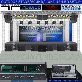 Advertising Outdoor stage SETUP