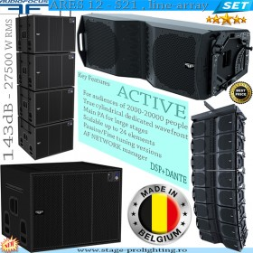 AudioFocus Ares 12 - S21, active line-array SET