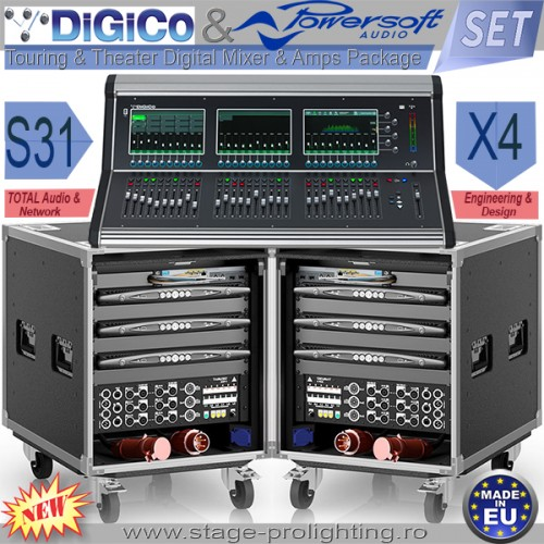 DiGiCo S31 & Powersoft Audio X4 SET