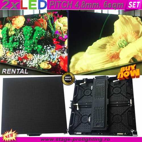2 x LED Screen PITCH 4,8mm, 6mp SET