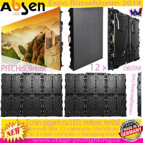 ABSEN LED Giant Screen 3mp, 12 cabinete, Pitch 5,9mm SET