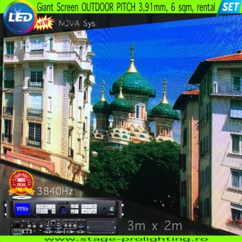 LED Giant SCREEN, Rental, 6mp, P3,91 OUTDOOR SET