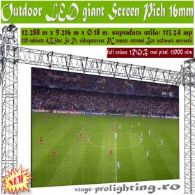 Outdoor LED Giant Screen 12,28m x 9,22 m, PICH 16mm