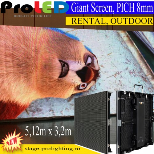 ProLED Outdoor Giant LED Screen, PICH 8mm, Rental