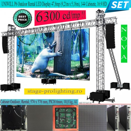 UNIWILL P6 Outdoor Rental LED Display 16:9 HD