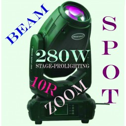 10R moving head 280 spot beam wash 3 in 1