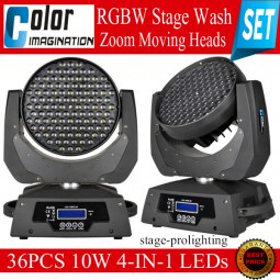 CI RGBW StageWash Zoom Moving Heads SET