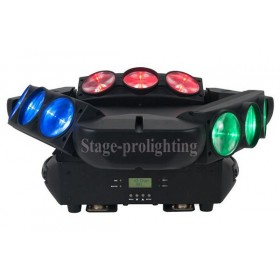 LED SPIDER BEAM MOVING HEAD LIGHT 9pcs*12W (RGBW 4 in 1)