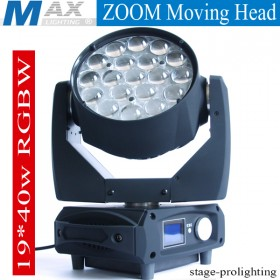 Max Lighting Zoom Moving Head 19X40W RGBW