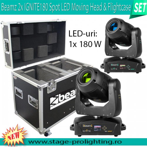 Moving Head LED Spot Ignite 180W SET