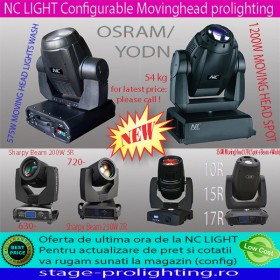 NC LIGHT Configurable Movinghead prolighting