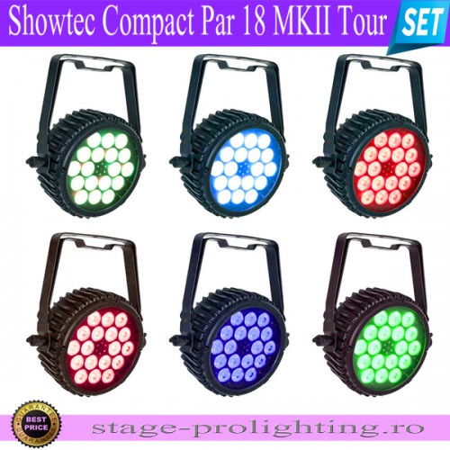 Showtec Compact Par 18 MKII Tour SET
