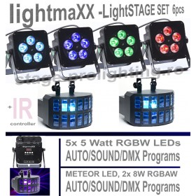 lightmaXX - Stage lighting 6 pcs SET