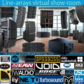 Line-array virtual show-room advertising