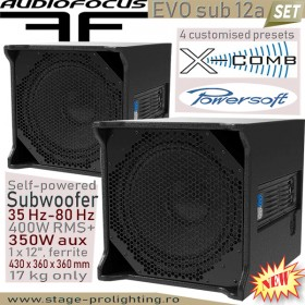 AudioFocus EVO sub 12a, self-powered subwoofer SET