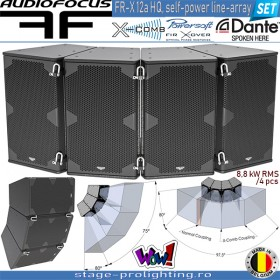 Audiofocus FR-X 12a HQ, self-powered line-array SET