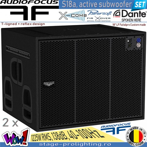 Audiofocus S18a, active subwoofer SET