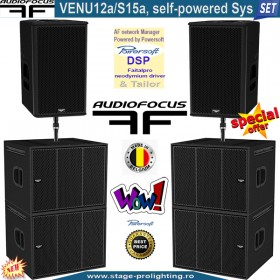 Audiofocus VENU 12a-S15a, self-powered Sys SET