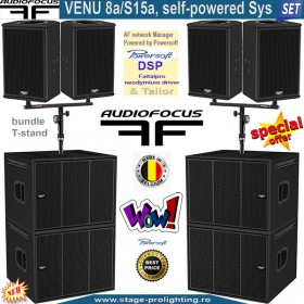Audiofocus VENU 8a-S15a, self-powered Sys SET