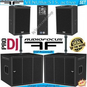 Audiofocus VENU8a-S15a, active SET