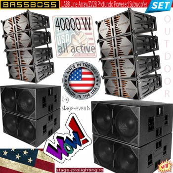 BASSBOSS Active Line-array PA SET
