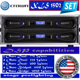 Crown XLS 1502 DSP Power amplifier SET