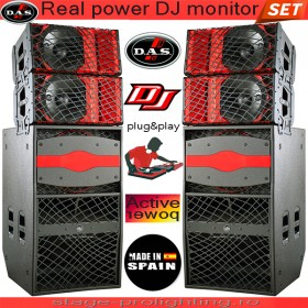 D.A.S. Real power DJ monitor SET