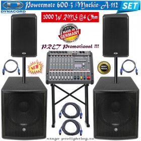 Dynacord Powermate 600-3-Mackie S518S subs-A-112 SET