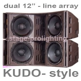 "Kudo 2 X 12"" style 3-Way Line Array"
