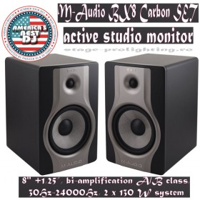 M-Audio BX8 Carbon, active Studio monitors SET