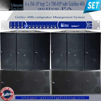 Meyer Sound Active JM-1P/700-H/Galileo 408 PA SET