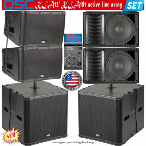 qsc kla12 kla181 active line array set. Black Bedroom Furniture Sets. Home Design Ideas