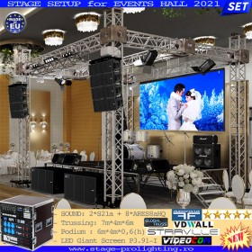 Stage Setup for Events Hall 2021