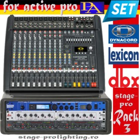 Stage-pro Rack 3 (for active PA speakers) SET