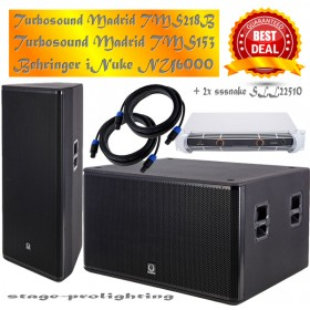 Turbosound -Speakers/Behringer amp-SET