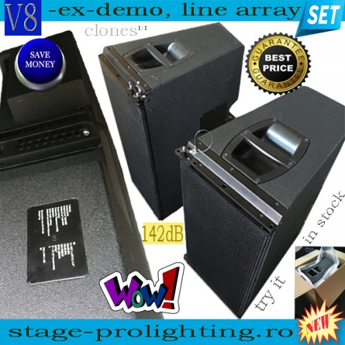 V8 ex-demo, line-array modules SET