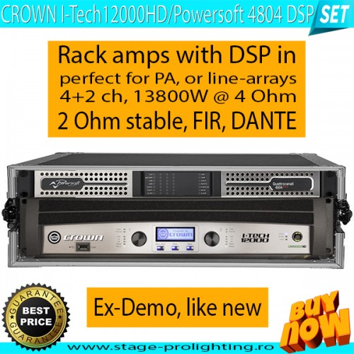 Crown I-Tech 12000HD - Powersoft 4804 DSP SET