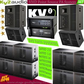 KV2 Audio VHD Point Source PA System SET