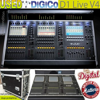USED DiGiCo D1 Live V4 digital mixer