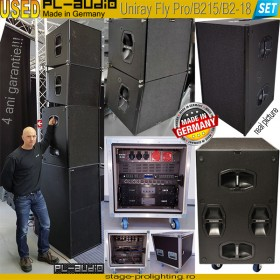 USED PL-AUDIO Uniray Fly Pro-B215-B218 PA SET