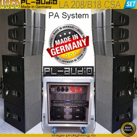 USED PL-audio LA208-B18-amp Rack PA SET