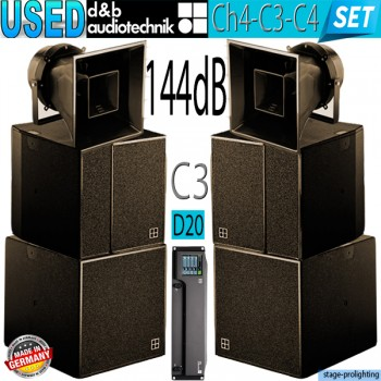 USED d&b audiotechnik Ch4-C3-C4-D20 SET