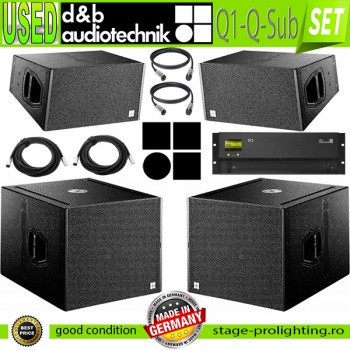 USED d&b audiotechnik Q1-Q-Sub- D12 amp SET