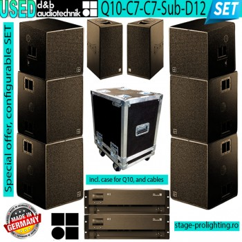 USED d&b audiotechnik Q10-C7-C7Sub-D12 SET