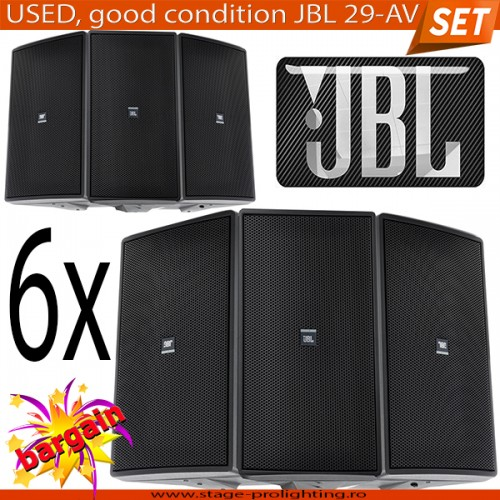 USED, Good Condition JBL 29-AV 6pcs SET