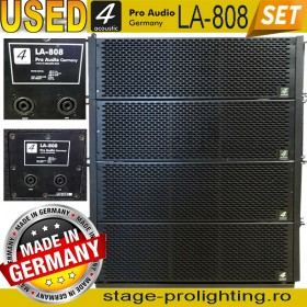 Used 4-Acoustic LA-808, line-array modules SET
