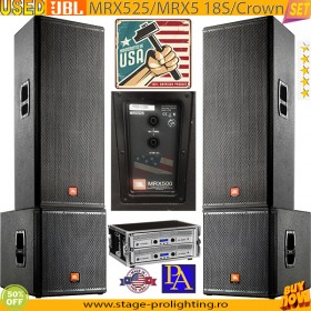 Used JBL MRX525-MRX5 18S-Crown PA SET1