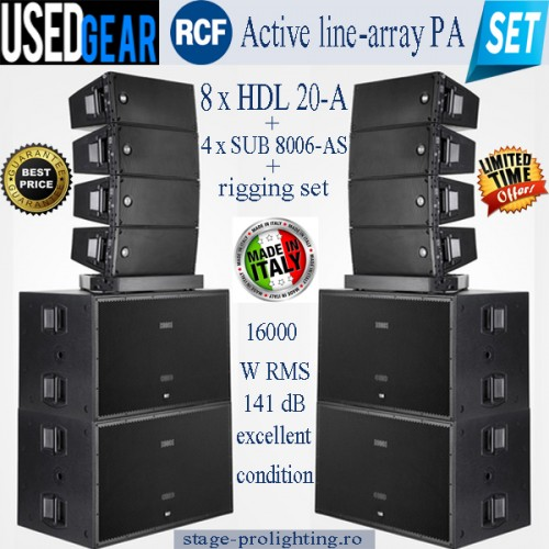 Used RCF Active line-array PA SET