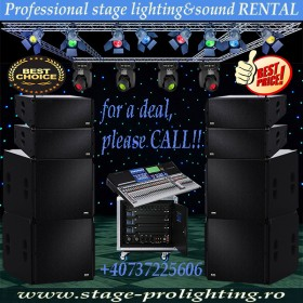 Professional stage lighting&sound RENTAL